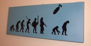 Banksy Reproduction  Evolution by RAMART79
