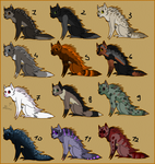 porcupine dog adoptables OPEN by blinding-eclips