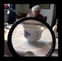 grandma and the coffee by mariepost