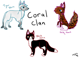 Coral Clan Cats (Cats Of Grace) by F0XXIE