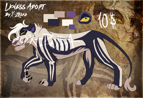 Skeleton Lioness Auction: CLOSED by X-ZELFA