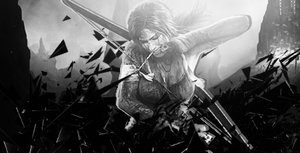 Tomb Raider BW by dOseeN