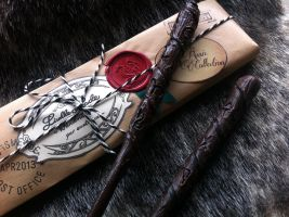 Runic Wands by LiselleAngelique