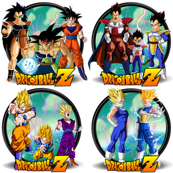 DBZ-Fathers N Sons Icons Collection by DarkSaiyan21