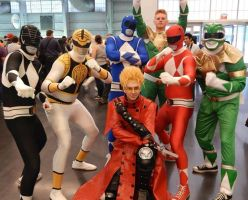 New York Comic Con 2013 - with Power Rangers by Mareklos