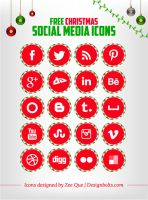 Free Social Media Icons for Christmas by Designbolts