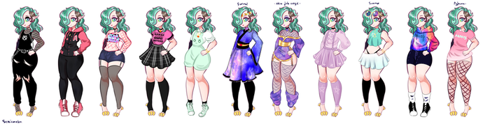 Anti's Outfits (new) by SepticMelon