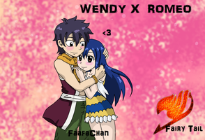 Wendy x Romeo ( Romendy ) Fairy Tail by Takari01