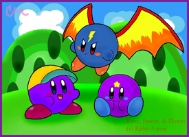 Fanart - Kirby-4-ever's OCs by brushtrail