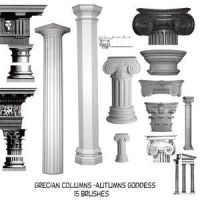 Grecian Pillars Brushes For Cs by AutumnsGoddess-stox