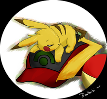 Sleeping pikachu by daitoshi