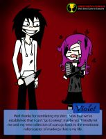 Jeff the Killer Meets Violet by DawnTheCreator