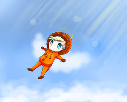 Kenny up to heaven chibi by itsmeyounow