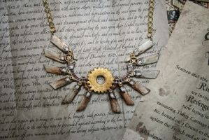 Clanker Necklace by RainOwls