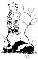 Calvin and Hobbes, Ink Demo by Inkpulp