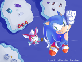 Sonic and Chip in Holoska by Fumuu