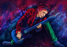 Keith Richards by CAHess