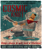 Cosmic Knife! by FalloutPosters
