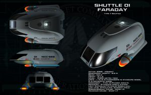Type 7 Shuttlecraft ortho - Faraday by unusualsuspex