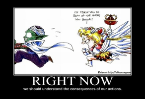 Poor Piccolo have Deal with Sailormoon by KeybladeMagicDan