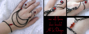 Rose with Thorns Slave Bracelet (adjustable) by ArtLoDesigns