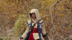 GIF Lindsey Stirling BTS Assassin's Creed by TobiasRiedinger