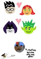 Titans Couples by Larxylectricity