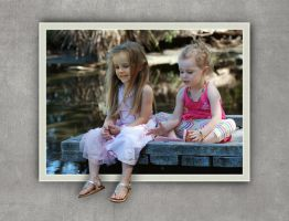 Two Girls and a Dock by Devoral