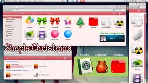 Simple Christmas (Tema de iconpackager) by fabii27