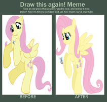 Draw This Again- Fluttershy by SJArt117
