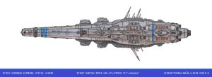 ESF NEW DELHI-CLASS Cruiser by MisterK91