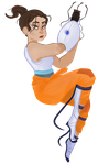 Chell in Motion by IndigoCode