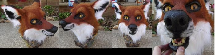 Realistic fox head by ArtSlavefursuits