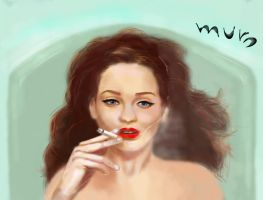 muro-Woman with Cigarette by crushtested