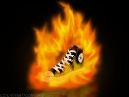 flaming chucks by cdrummer