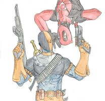 Deadpool und Deathstroke color by Amrock
