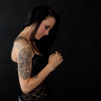 Flowers and Skulls 001 by AshevilleTattooPhoto