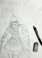 WIP - Armenian Woman Warrior (Medieval) by Gambargin