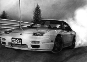 Nissan 240SX [Graphite][A4][commission] by TarcDnB