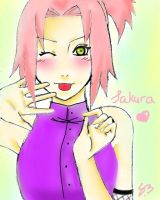 Sakura in Ino's outfit ! by Heemana