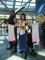 Auron and Yuna by SapphireEagle