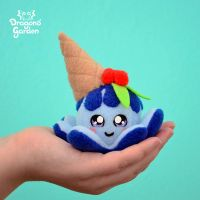 Mini Blue Icecream Squiddy by Dragons-Garden