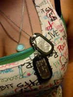 My Uncles Tags and Grandfathers Necklace by KMKramer44