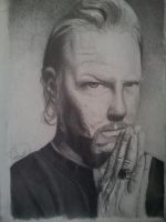 James Hetfield by drawmyownworld