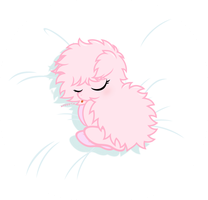 Baby Fluffle Puff -sleeping- by Godoffury