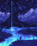 On the Banks of the Glowing River by skybrush