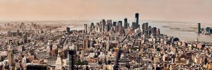 New York City Midtown to Downtown Panorama by JonathanHasenfus
