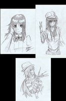 Hanako Sketches by Ryder-Sechrest