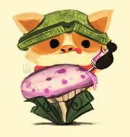 Daily Doodles #17 - Teemo - League of Legends by theblackbx