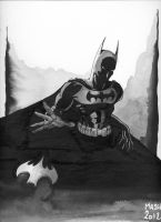 Batman Black and White by Rexbegonia